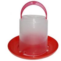 Вакуумная пластиковая поилка для домашней птицы